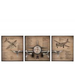 Horloge avion 3 parties