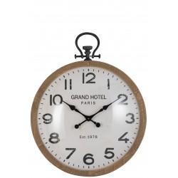 Horloge boule en verre (L)