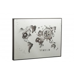 Horloge mappemonde