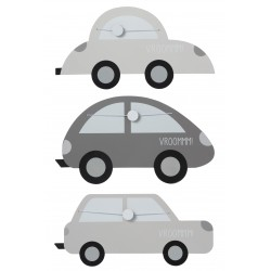 3 cadres photo clip automobile